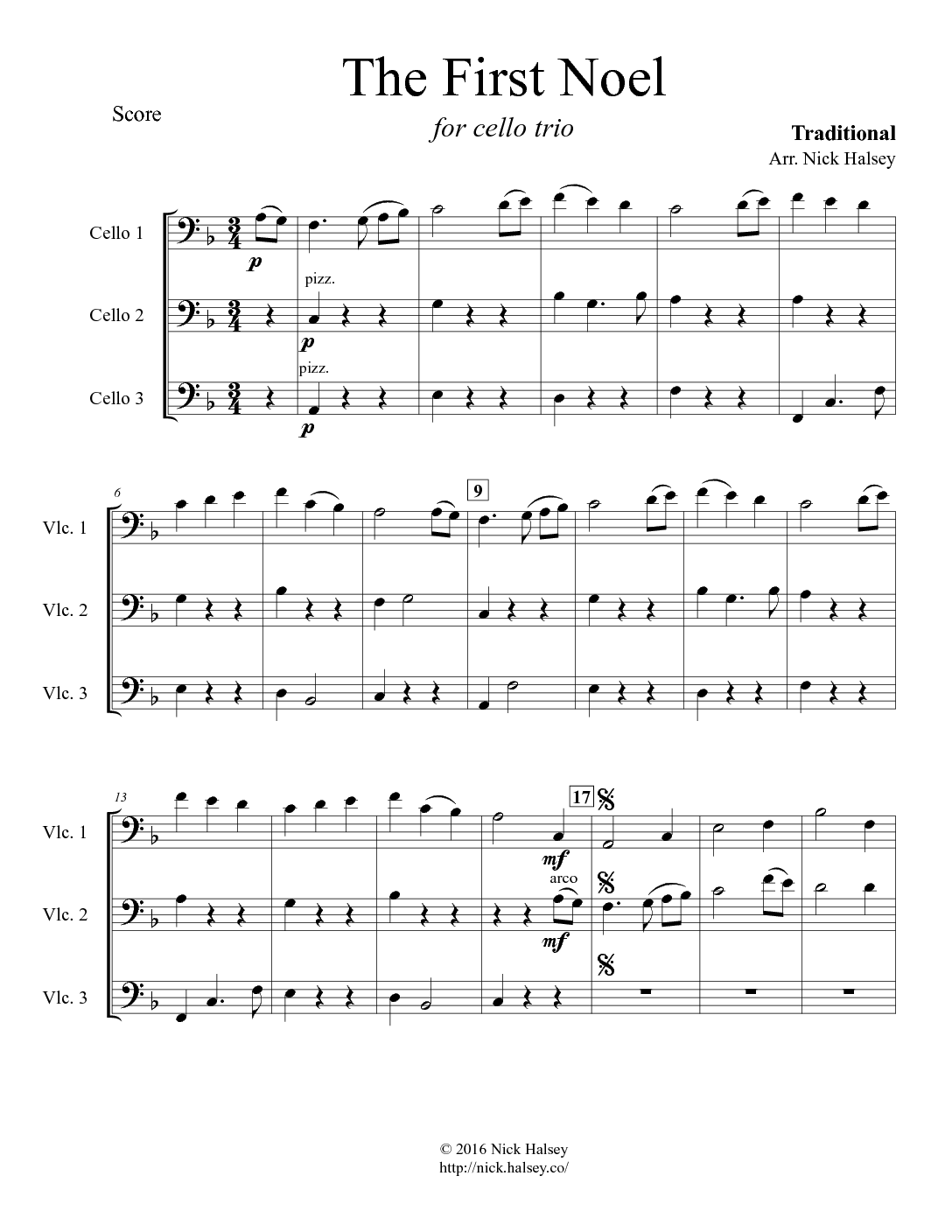 The First Noel – Cello Expressions Sheet Music Library