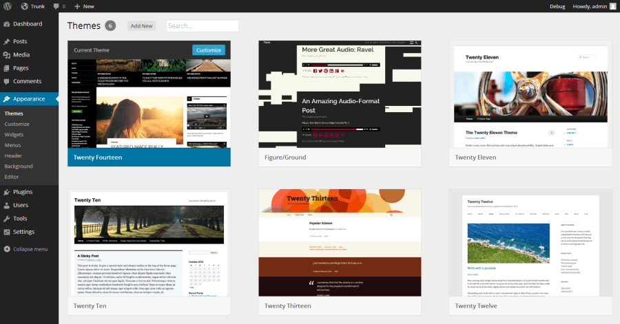 WordPress 3.8's New Theme Browsing Interface