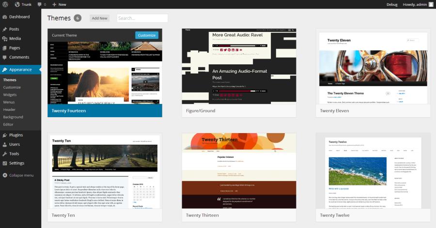 WordPress 3.8's New Theme Browsing Interface