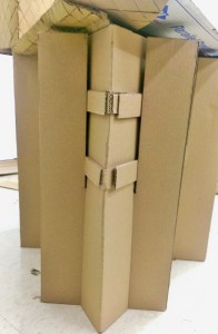 Cardboard Chair Visual Detail and Seat Coonnection