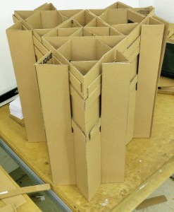 Cardboard Chair Main Structural Section
