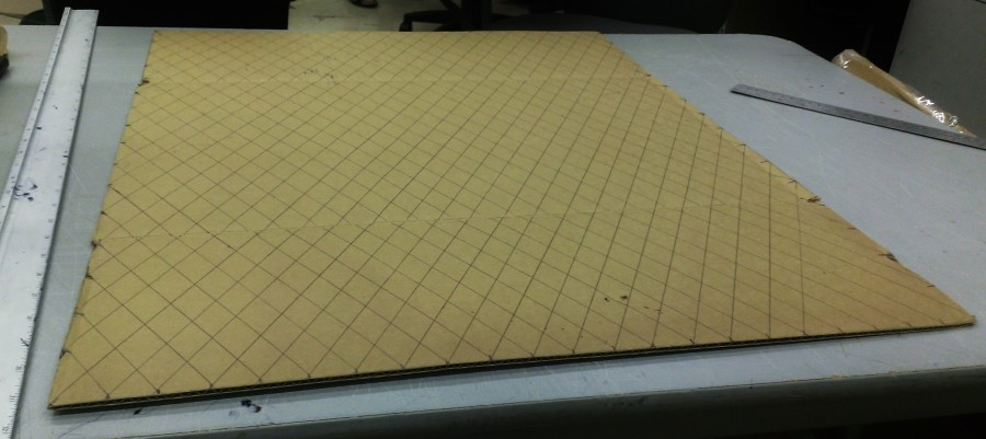 Cardboard Quilting Technique: Grid Layout to sccore