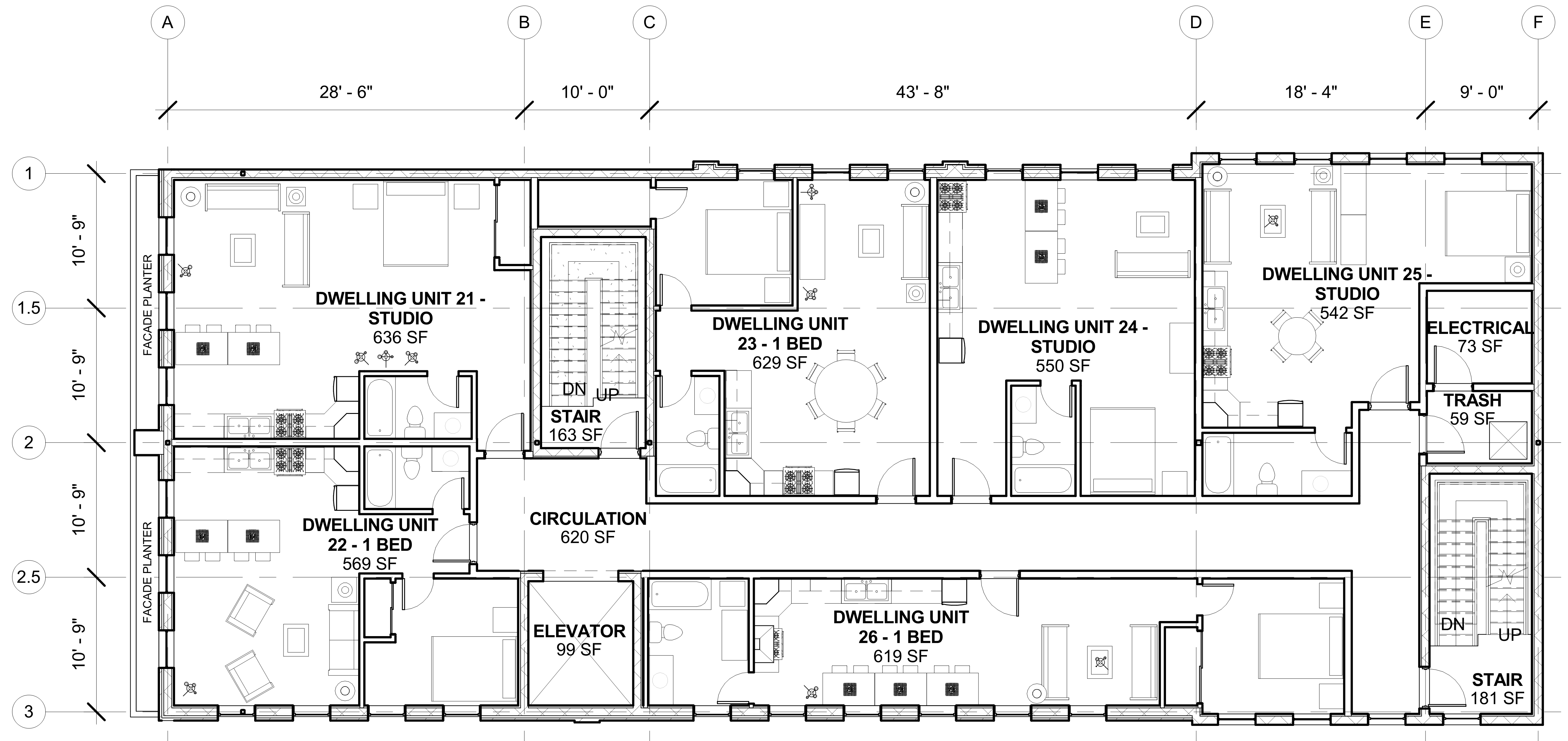 Pico union mixed use sample floor plan cello expressions Architectural floor plans